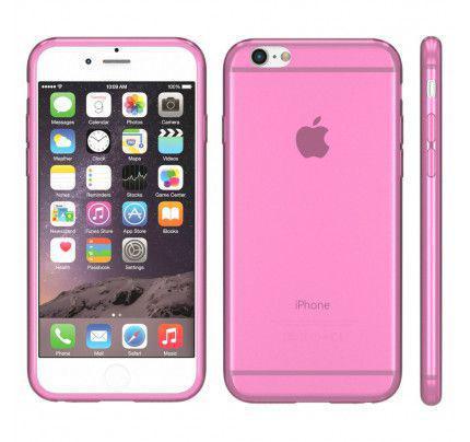 Θήκη TPU Ultra Slim για iPhone 6 / 6s διάφανη ροζ