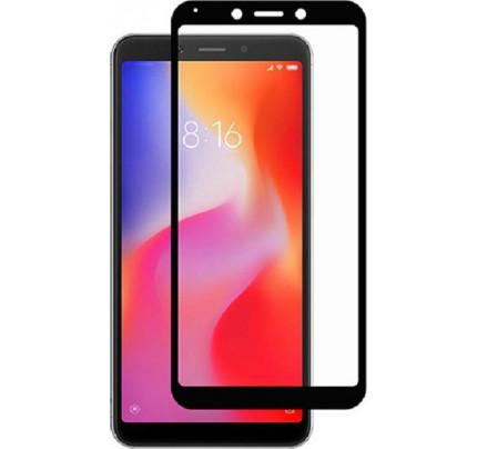 Tempered Glass 5D (άθραυστο ) 9H για Xiaomi Redmi 6A / Redmi 6 πλήρους κάλυψης -  full face black