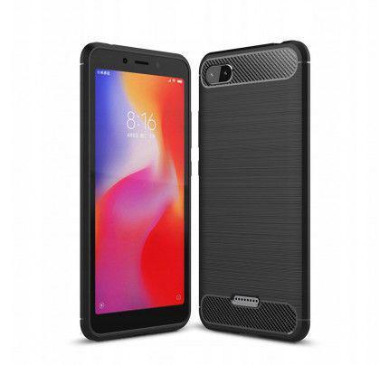 Θήκη OEM Brushed Carbon Flexible Cover TPU για Xiaomi Redmi 6A μαύρου χρώματος