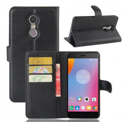 """Θήκη OEM Wallet για Lenovo K6 Note 5,5 """" ( stand ,θήκες για κάρτες,χρήματα) μαύρου χρώματος"""