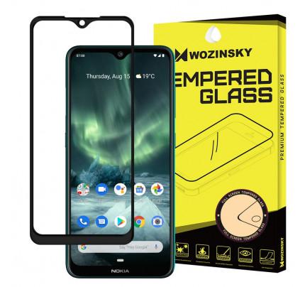 Wozinsky Tempered Glass Full Glue Super Tough Full Coveraged with Frame Case Friendly for Nokia 7.2 / Nokia 6.2 black