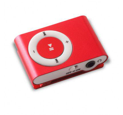 MP3 PLAYER MICROSD RED
