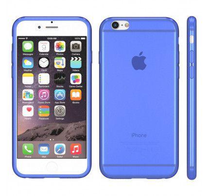Θήκη TPU Ultra Slim για iPhone 6 / 6s διάφανη μπλε