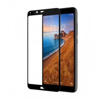 Tempered Glass Πλήρους Κάλυψης 9H 5D Full face Full glue για Xiaomi Redmi 7A black