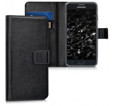 Θήκη OEM Wallet για Samsung Galaxy J7 2017 J730  ( stand ,θήκες για κάρτες,χρήματα) μαύρου χρώματος