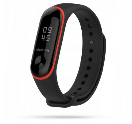 TECH-PROTECT Λουράκι Σιλικόνης SMOOTH XIAOMI MI BAND 3/4 BLACK/RED