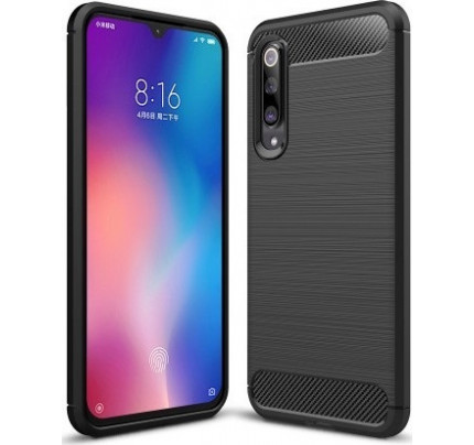 Θήκη Carbon Flexible Cover TPU Case for Xiaomi Mi 9 SE / Mi9 SE black