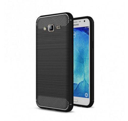 Θήκη OEM Brushed Carbon Flexible Cover TPU  for Samsung Galaxy J3 2016 J320 μαύρου χρώματος