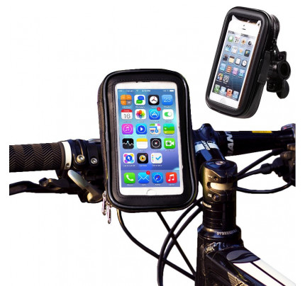 OEM Bike Phone waterproof Mount, Universal Case Bicycle & Motorcycle Phone Holder Mount Size XL (max phone size: 165 mm x 80 mm) black