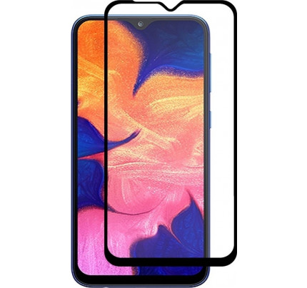 Tempered Glass Πλήρους Κάλυψης 9H 5D Full face Full glue για Samsung Galaxy A10 black