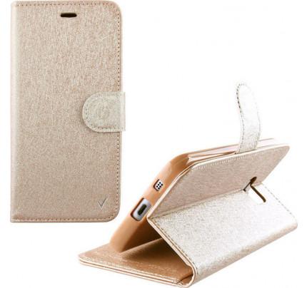"""Θήκη OEM Wallet για Alcatel Pixi 4 5 """" ( stand ,θήκες για κάρτες,χρήματα) χρυσού χρώματος"""
