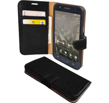 Θήκη OEM Sonata Book για ZTE Blade S6 ( stand ,θήκες για κάρτες,χρήματα) μαύρου χρώματος