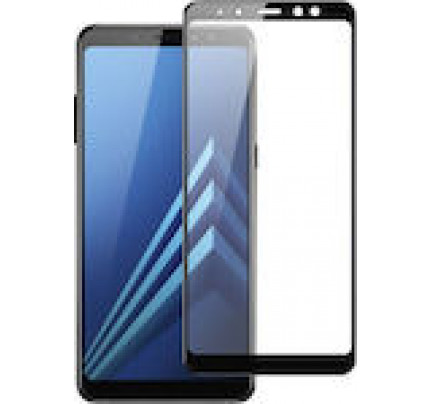 Tempered Glass Screen Protector Πλήρους Κάλυψης για Samsung Galaxy A8 2018 black