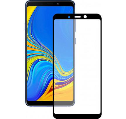 Tempered Glass Full glue 5D πλήρους κάλυψης για Samsung Galaxy A9 2018 black full face