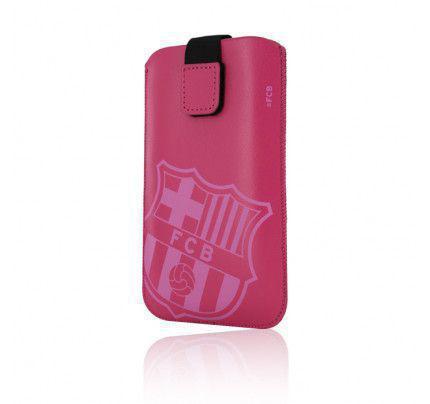 Θήκη Barcelona FCB Pull Out Pink size L για iphone 4/4s , Arc και smartphones ανάλογων διαστάσεων
