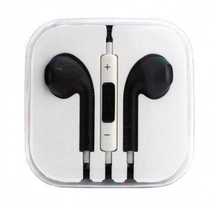 Handsfree Stereo συμβατά με iPhone 3G/3Gs/4G/5G/5S/6/6s BOX black