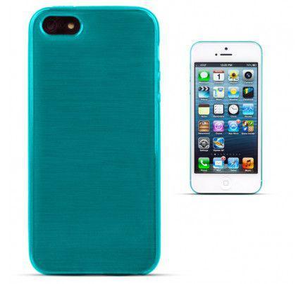 Θήκη Jelly Brush TPU για iPhone 5/ 5s /SE μπλε χρώματος