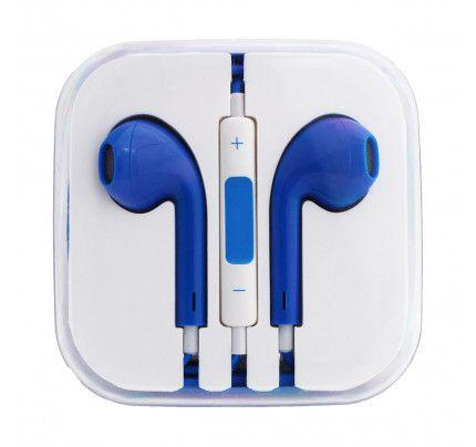 Handsfree Stereo συμβατά με iPhone 3G/3Gs/4G/5G/5S/6/6s BOX blue