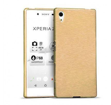 Θήκη Jelly Brush TPU για Sony Xperia C5 χρυσού χρώματος