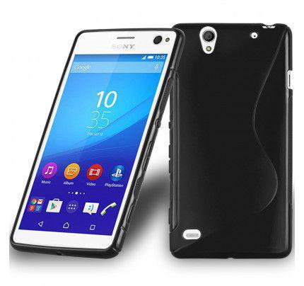Θήκη TPU S-Line για Sony Xperia C4 μαύρου χρώματος
