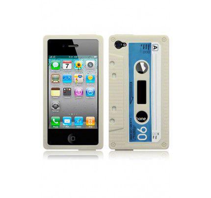 Θήκη Σιλικόνης για iPhone 4 / 4s  White Cassette
