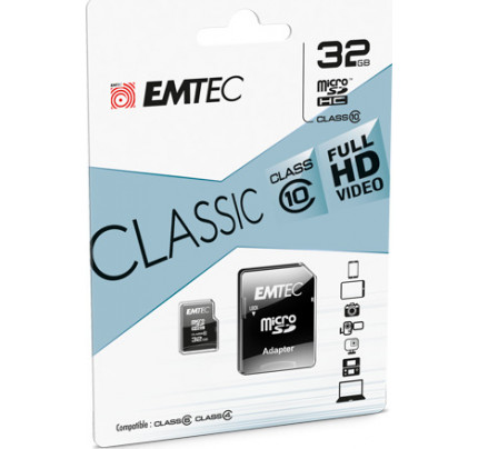 Emtec Classic microSDXC 32GB Class 10 with Adapter