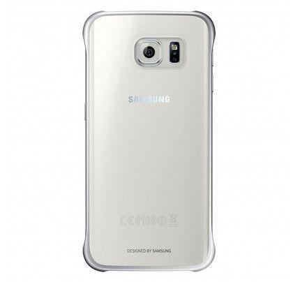 Samsung Clear Cover EF-QG925BS για Galaxy S6 edge silver