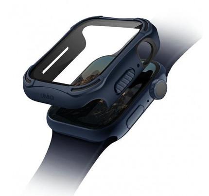 Θήκη UNIQ Torres Apple Watch Series 4/5/6/SE 44mm.blue ( Protective bumper+ tempered glass )