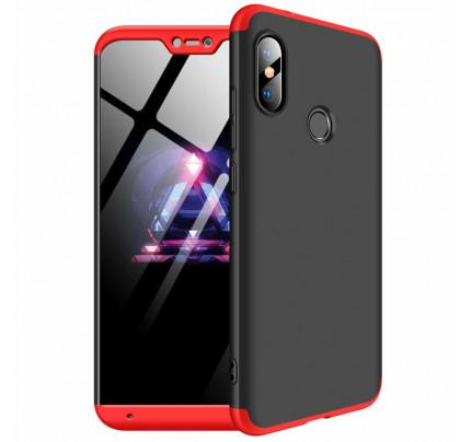 Θήκη OEM 360 Protection front and back full body για Xiaomi Mi A2 Lite black red