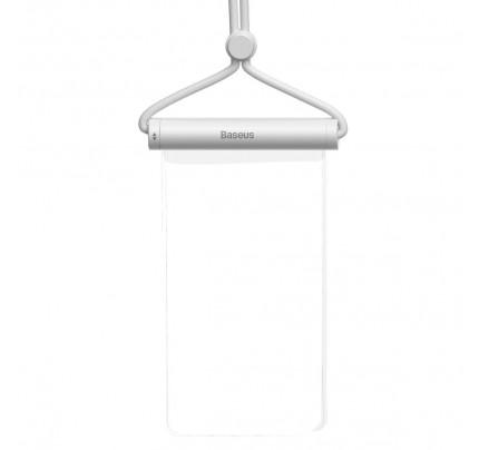 """Αδιάβροχη θήκη Baseus Cylinder Slide-cover waterproof smartphone bag WHITE ACFSD-E02 εως 7.2 """""""