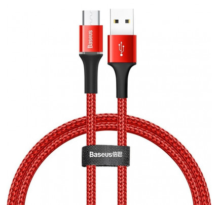 Baseus Halo Micro USB Cable with LED Lamp 3A 1m Red CAMGH-B09