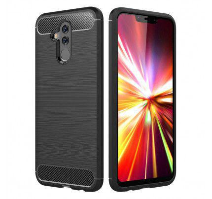 Θήκη OEM Brushed Carbon Flexible Cover TPU  for Huawei Mate 20 Lite μαύρου χρώματος