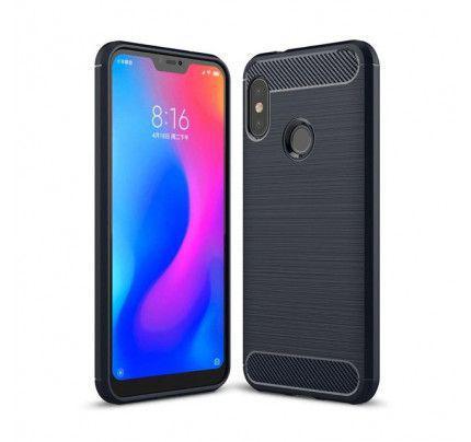 Θήκη OEM Brushed Carbon Flexible Cover TPU για Xiaomi Mi A2 LITE μπλε χρώματος
