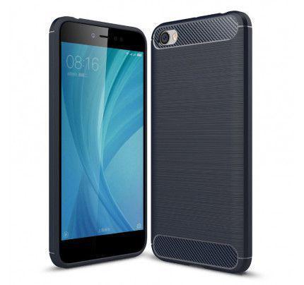 Θήκη OEM Brushed Carbon Flexible Cover TPU για Xiaomi Redmi Note 5A μπλε χρώματος
