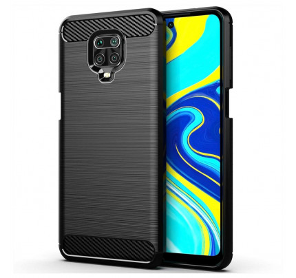 Θήκη Carbon Case Flexible Cover TPU Case for Xiaomi Note 9s / Note 9 Pro / Note 9 Pro Max black