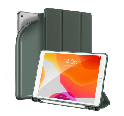 DUX DUCIS Osom TPU gel tablet cover with multi-angle stand and Smart Sleep function for iPad 10.2'' 2019 green