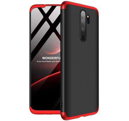 GKK 360 Protection Case Front and Back Case Full Body Cover Xiaomi Redmi Note 8 Pro red black