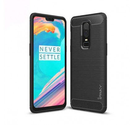 Θήκη iPaky Slim Carbon Flexible Cover TPU Case for OnePlus 6 black