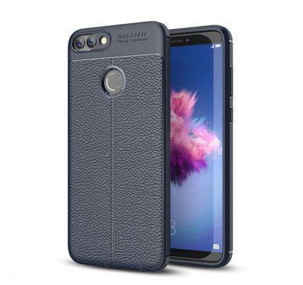 Θήκη Litchi Pattern Flexible Cover TPU για Huawei P Smart blue