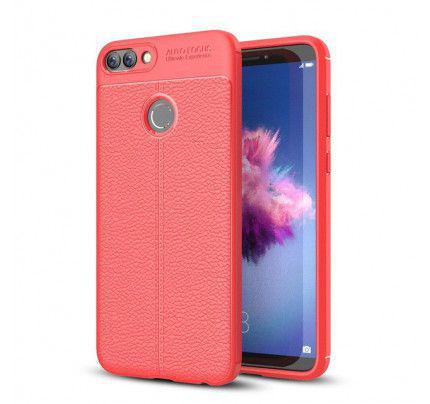 Θήκη Litchi Pattern Flexible Cover TPU για Huawei P Smart red