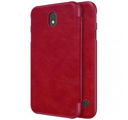 Θήκη Nillkin Qin Book για Samsung Galaxy J5 2017 J530 κόκκινου χρώματος ( Δερμάτινη)