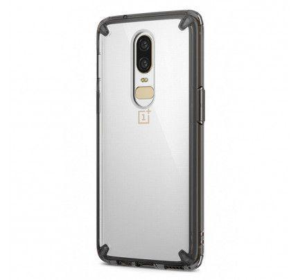 Ringke Fusion PC Case with TPU Bumper for OnePlus 6 grey (FSOP0010-RPKG)