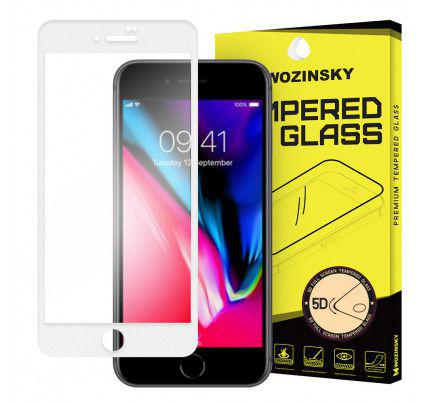 Tempered Glass PRO+ 5D Super Tough Screen Protector Πλήρους Κάλυψης με πλαίσιο για iPhone 8 Plus white
