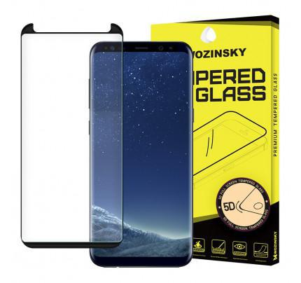 Tempered Glass 5D Full Glue Super Tough Screen Protector Full Coveraged with Frame for Samsung Galaxy S9 G960 black