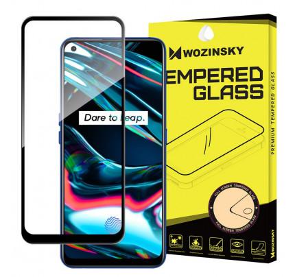 Wozinsky Tempered Glass Full Glue Super Tough Full Coveraged with Frame Case Friendly for Realme 7 Pro black