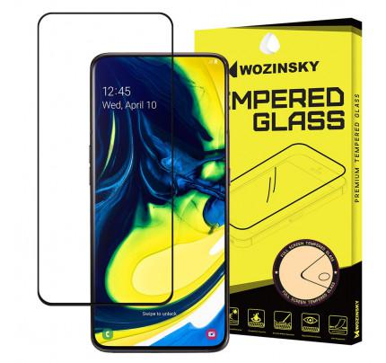 Wozinsky Tempered Glass Full Glue Super Tough Full Coveraged with Frame Case Friendly for Samsung Galaxy A80 black
