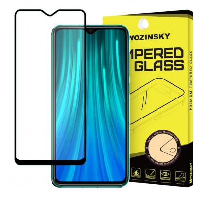Wozinsky Tempered Glass Full Glue Super Tough Full Coveraged with Frame Case Friendly for Xiaomi Redmi 8 black