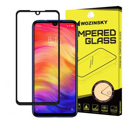 Wozinsky Tempered Glass Full Glue Super Tough Full Coveraged Case Friendly for Xiaomi Redmi Note 7 black