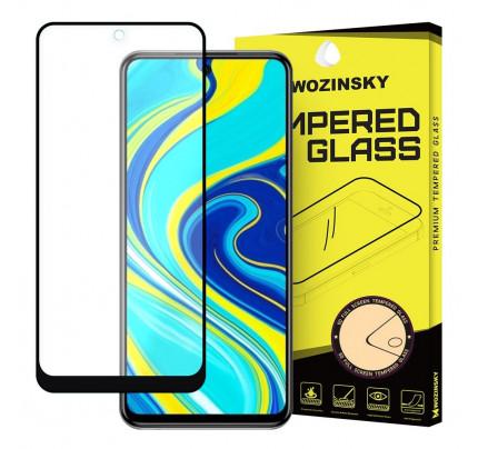 Wozinsky Tempered Glass Full Glue Super Tough Full Coveraged with Frame Case Friendly for Xiaomi Redmi Note 9 Pro / Redmi Note 9S black