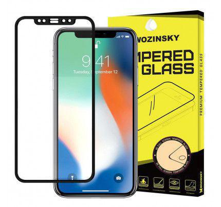 Tempered Glass Full Glue Super Tough Full Coveraged with Frame for  Apple iPhone XS Max / iPhone 11 Pro Max black Case Friendly